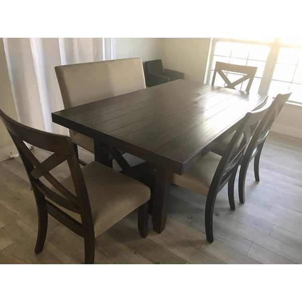 Picket House Furnishings Francis 6pc Dining Set Table 4 X Back Chairs Fabric Bench Free Shipping Today 12821372