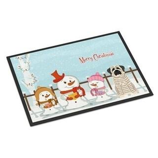 Carolines Treasures BB2347MAT Merry Christmas Carolers Mastiff Brindle White Indoor or Outdoor Mat 18 x 0.25 x 27 in.