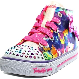 Skechers S Lights-Shuffles-Artsy Up Toddler Canvas Multi Color Sneakers