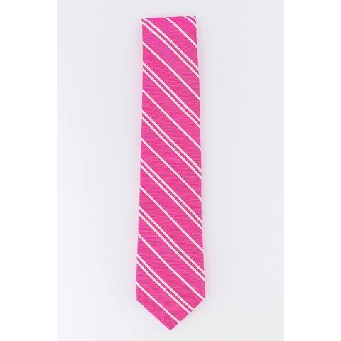 Tommy Hilfiger Men's Flatiron Stripe Tie Pink One Size - FALSE