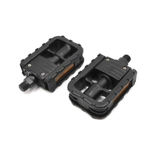 Link to Black Aluminum Alloy Mountain Bike Bicycle Non-slip Folding Platform Pedals Pair Similar Items in Cycling Equipment