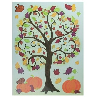 17 Thanksgiving and Fall Inspired Window Cling Decorations