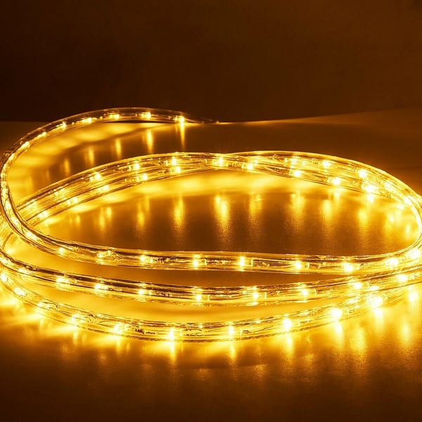 newest 7d416 000e3 Shop Costway 100' 2 Wire LED Rope Light Christmas Decorative ...