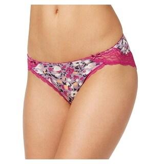 Heidi Klum Womens Wild Aster Dancing Floral Petal Lace Bikini Underwear