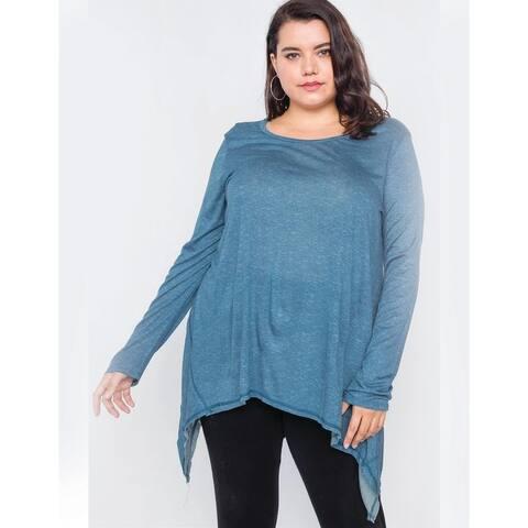 Plus Size Blue Top