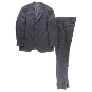 Hart Schaffner Marx Mens Wool 2PC Two-Button Suit