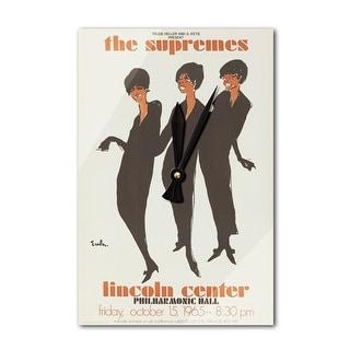 USA - The Supremes - Lincoln Center - (artist: Eula c. 1965) - Vintage Advertisement (Acrylic Wall Clock)