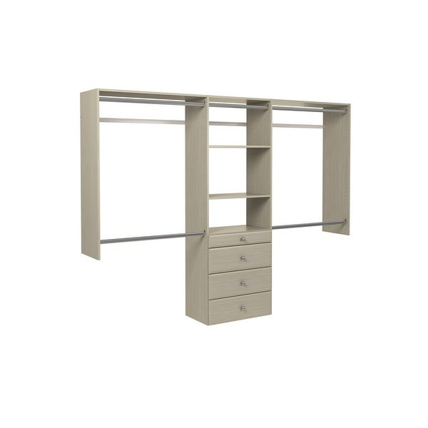 shop easy track ok7272 4 to 8 foot wide premium closet system kit with drawers n a free. Black Bedroom Furniture Sets. Home Design Ideas