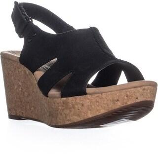 Clarks Annadel Bari Platform Wedge Sandals, Black
