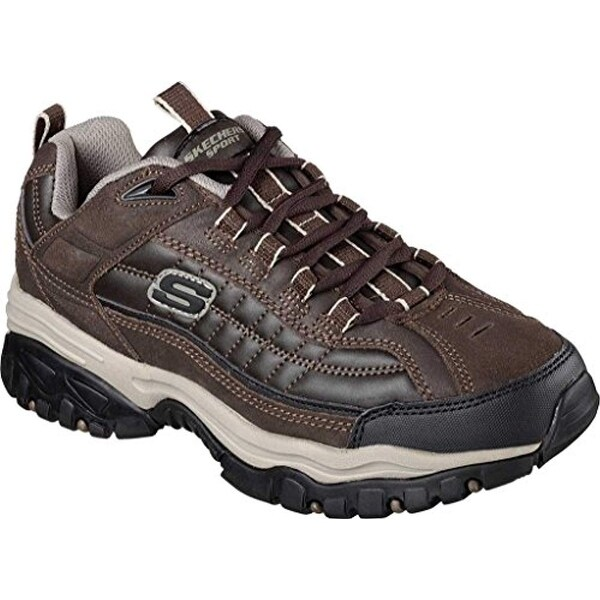Skechers Sport Men's Energy Downforce Lace Up Sneaker,Brown Taupe,11 2E Us