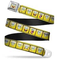 SpongeBob Open Mouth Smile Full Color SpongeBob 10 Expressions Filmstrip Seatbelt Belt