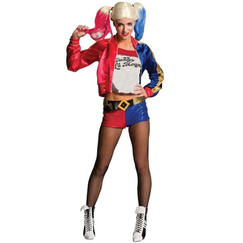 Rubies Suicide Squad Harley Quinn Adult Costume - Red/blue