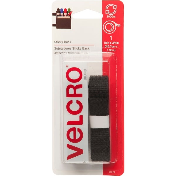 "VELCRO(R) Brand STICKY BACK Tape 3/4""X18""-Black"