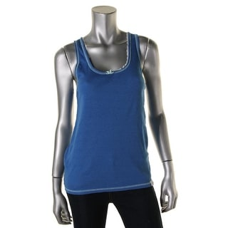 Tommy Hilfiger Womens Ribbed Lace Trim Tank Top - M