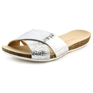 Enzo Angiolini Fly By Open Toe Leather Slides Sandal