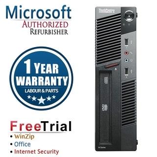 Refurbished Lenovo ThinkCentre M91P USFF Intel Core I5 2400S 2.5G 4G DDR3 320G DVD Win 10 Pro 1 Year Warranty - Black