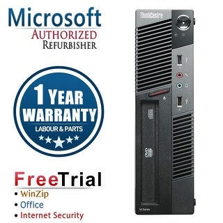 Refurbished Lenovo ThinkCentre M91P USFF Intel Core I5 2400S 2.5G 4G DDR3 320G DVD Win 7 Pro 1 Year Warranty - Black