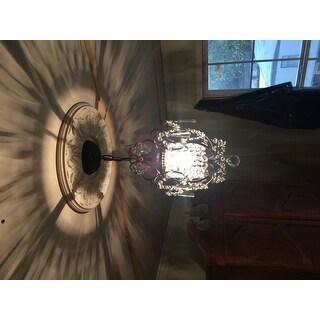 Rosalie 1-light Antique Bronze 11-inch Crystal Chandelier