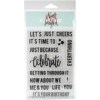 """Neat & Tangled Clear Stamps 4""""X6""""-Celebrate"""