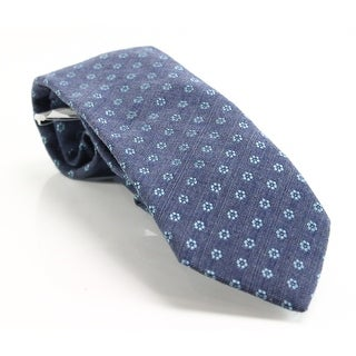 Michael Kors NEW Blue Floral Knit Men's Neck Tie Wool Blends Accessory