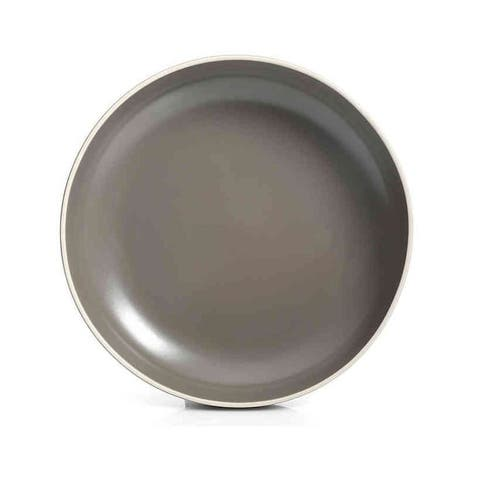 Artisanal Kitchen Supply Raw Edge Set of 4 Dinner Bowls, Stone