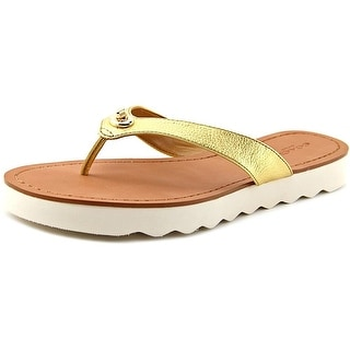 Coach Shelly Women Open Toe Leather Flip Flop Sandal