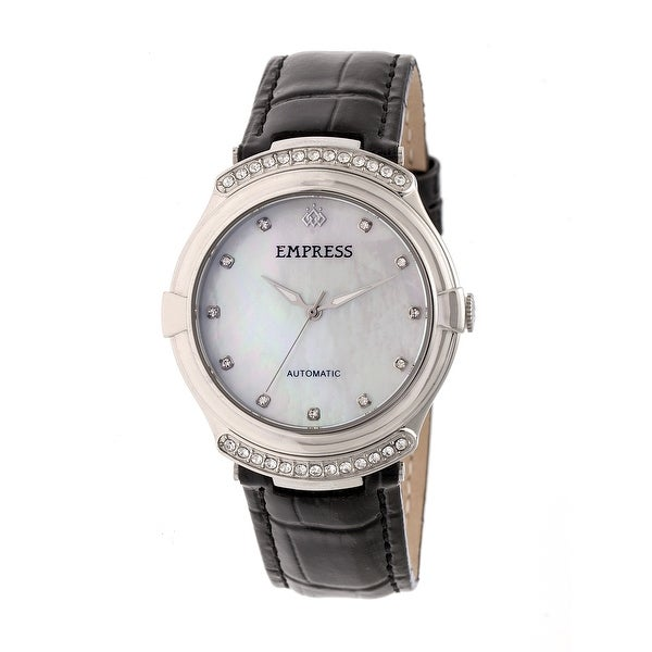 Empress Francesca Women's Automatic Watch, Mother of Pearl Dial, Genuine Leather Band, Luminous Hands