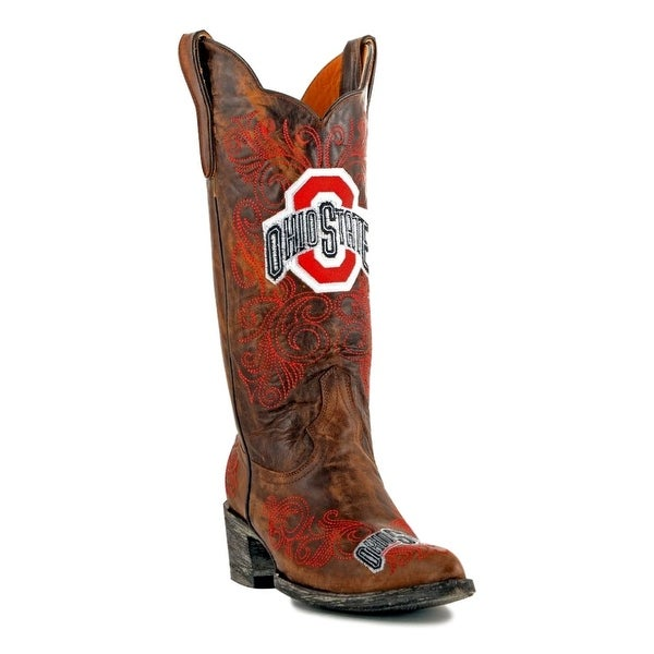 Gameday Boots Womens College Team Ohio State Buckeyes Brass