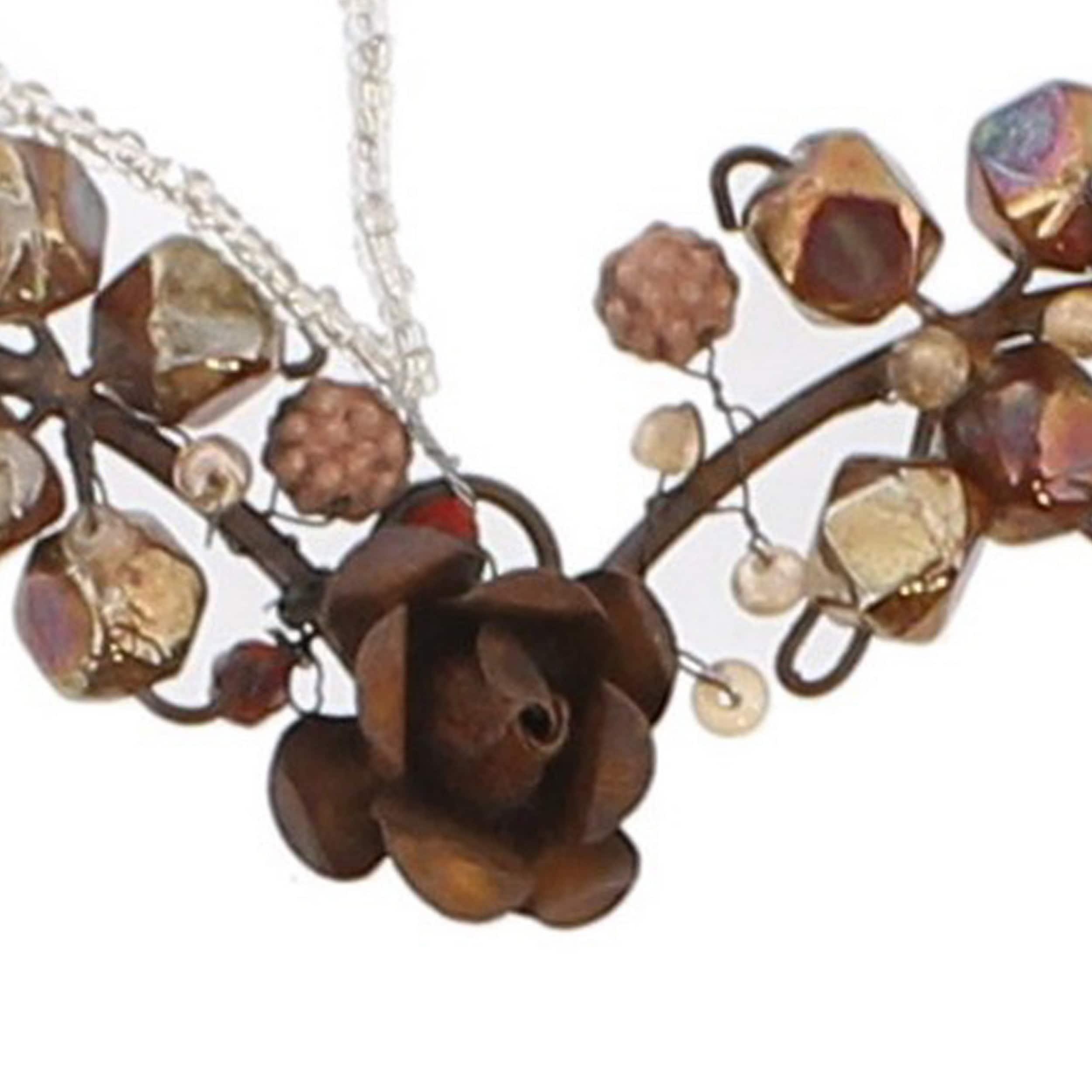 Beaded Heart Design Metal Wall Decor Large Rustic Bronze On Sale Overstock 32179791