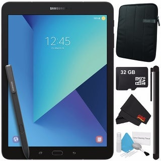 "Samsung 32GB Galaxy Tab S3 9.7"" Wi-Fi Tablet (Black) SM-T820NZKAXAR + Universal Stylus for Tablets + 32GB Class 10 Card Bundle"