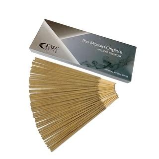 The Original Masala Premium - Incense Sticks 100 Grams - 100% Natural No Chemicals - 1 Hour Burning - 100 Grams Box