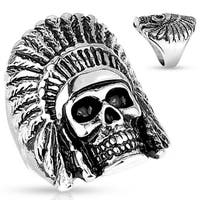 Tribal Skull Casting Stainless Steel Ring (Sold Ind.)