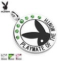 """Playboy Logo with Colored Gems """"Playmate Of The Month"""" Pendant (28 mm Width) - Thumbnail 0"""