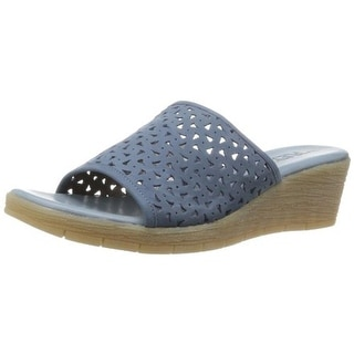 The Flexx Womens Love Em Nubuck Laser Cut Slide Sandals