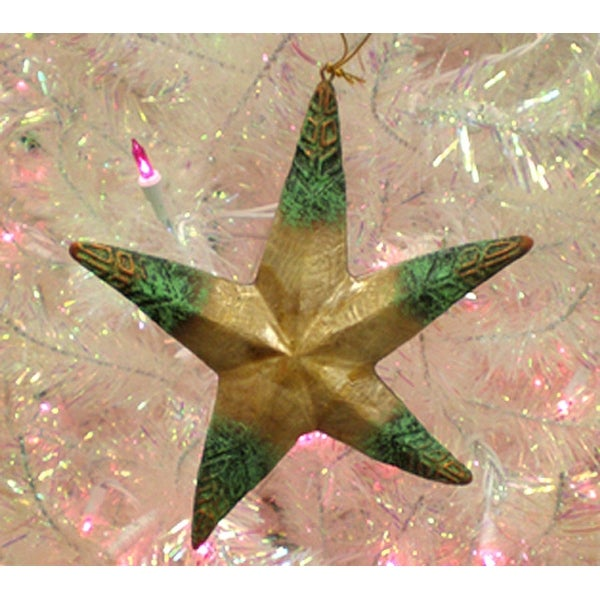 "7.5"" Rustic Capiz Mother Of Pearl Starfish Christmas Ornament"