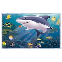 """Pack of 6 Aquarium Insta-View Under The Sea Theme Wall Decoration 62"""" - Blue"""