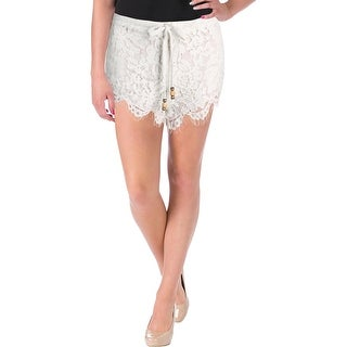 Chaser Womens Casual Shorts Lace Fringe