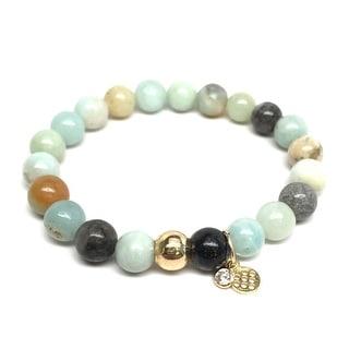 "Green Amazonite Zoe 7"" Bracelet"