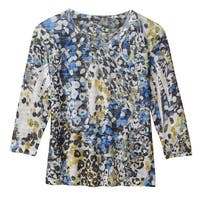 Women's Top - Shimmering Raindrops Sublimated Shirt - 3/4 Sleeves