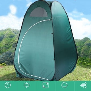 Link to Portable Outdoor Pop-up Toilet Dressing Fitting Room Privacy Shelter Tent Army Green Similar Items in Outdoor Play