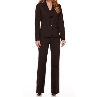 Le Suit NEW Blue Womens Size 8 Notched Lapel Pinstriped Pant Suit Set