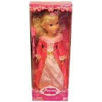"19"" Princess Doll In Pink Dress (Aurora Like) - multi"