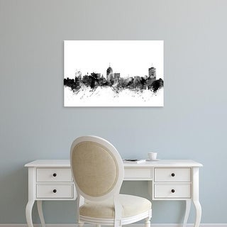 Easy Art Prints Michael Tompsett's 'Fresno California Skyline' Premium Canvas Art