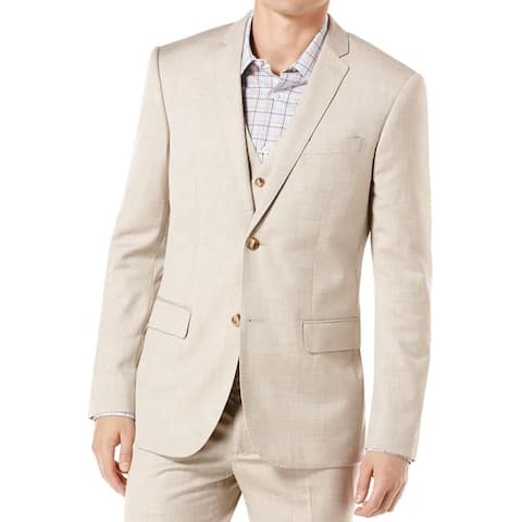 Perry Ellis Mens Two-Button Blazer Suit Separate Business