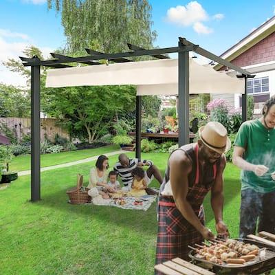 ALEKO Aluminum 9.5-foot Square Outdoor Canopy Pergola