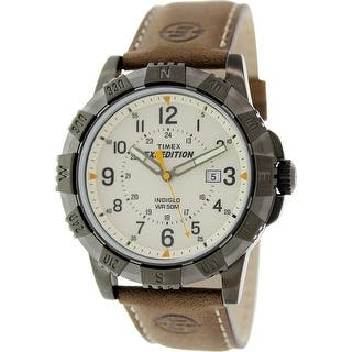 Timex Men's Expedition T49990 Brown Leather Analog Quartz Fashion Watch https://ak1.ostkcdn.com/images/products/is/images/direct/e5e9591d2a3eae666f832661da0ff92b143f87a3/Timex-Men%27s-Expedition-T49990-Brown-Leather-Analog-Quartz-Fashion-Watch.jpg?impolicy=medium