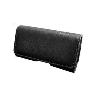 OEM Verizon Universal Leather Horizontal Pouch with Belt Clip UNISDPCH1 (Black)