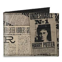 Harry Potter Newspaper Headlines Undesirable No 1 Canvas Bi Fold Wallet One Size - One Size Fits most