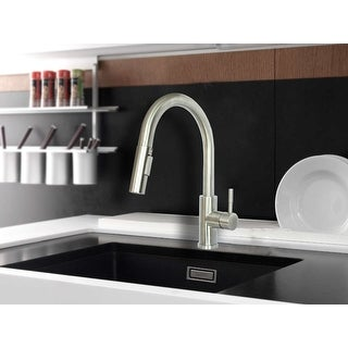 Link to WMF-8101SS-BN - Stainless Steel Kitchen Sink Faucet Single Handle with Pull Down Sprayer & Ceramic Cart Brushed Nickel Finish Similar Items in Faucets
