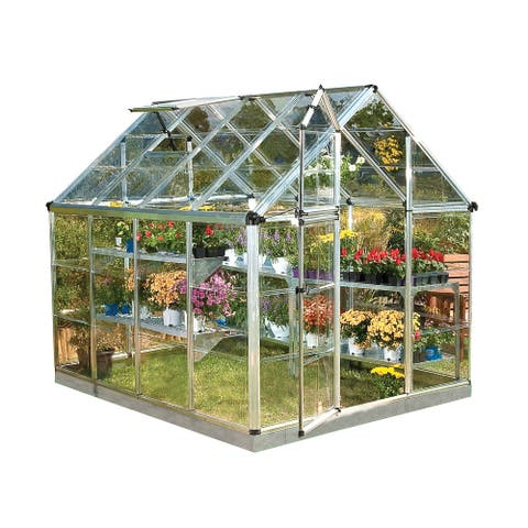 Palram Silver Snap and Grow 6ft. x 8ft. Greenhouse - 6ft x 8 ft.